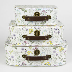 Wildflower-Set-of-3-Decorative-Suitcases-by-Sass-amp-Belle