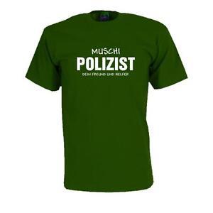 Muschi Polizist Spruche Fun T Shirt Fasching Karneval Lustig S 5xl