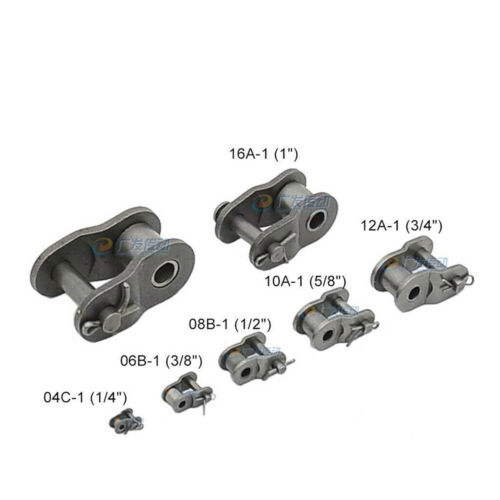 """#200 Simplex//Duplex Roller Chains Full//Half Connecting Links Pitch 1//4/""""-2/"""" #25"""