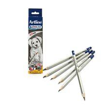 6 X lápices de dibujo Artline Dibujo calificado conjunto HB, 2B, 4B, 6B, 8B, 10B