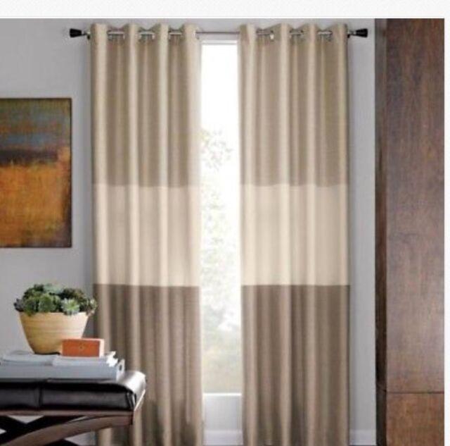 "Promenade Grommet Curtain Window Panel 50/""W x 95/""L Ivory NEW MarthaWindow"