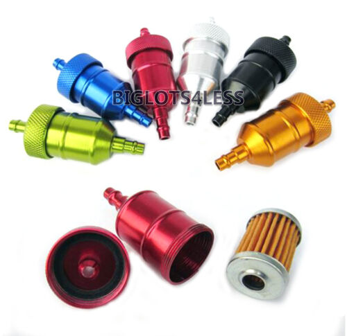 49CC 60CC 80CC MOTORIZED BICYCLE SCOOTER INLINE CNC ANODIZED FUEL FILTER BLACK