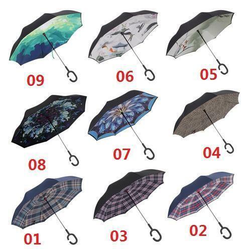 Umbrella Umbrella Double-Layer Weatherproof Windproof Straight Car Reverse K8ML