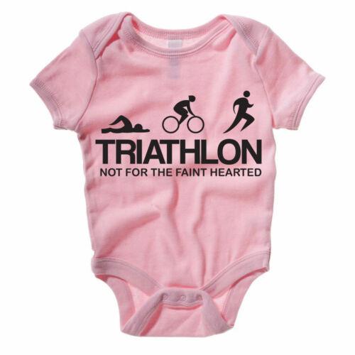 Bike Gift Idea Themed Baby Grow//Suit TRIATHLON Swim Run Fun Sport