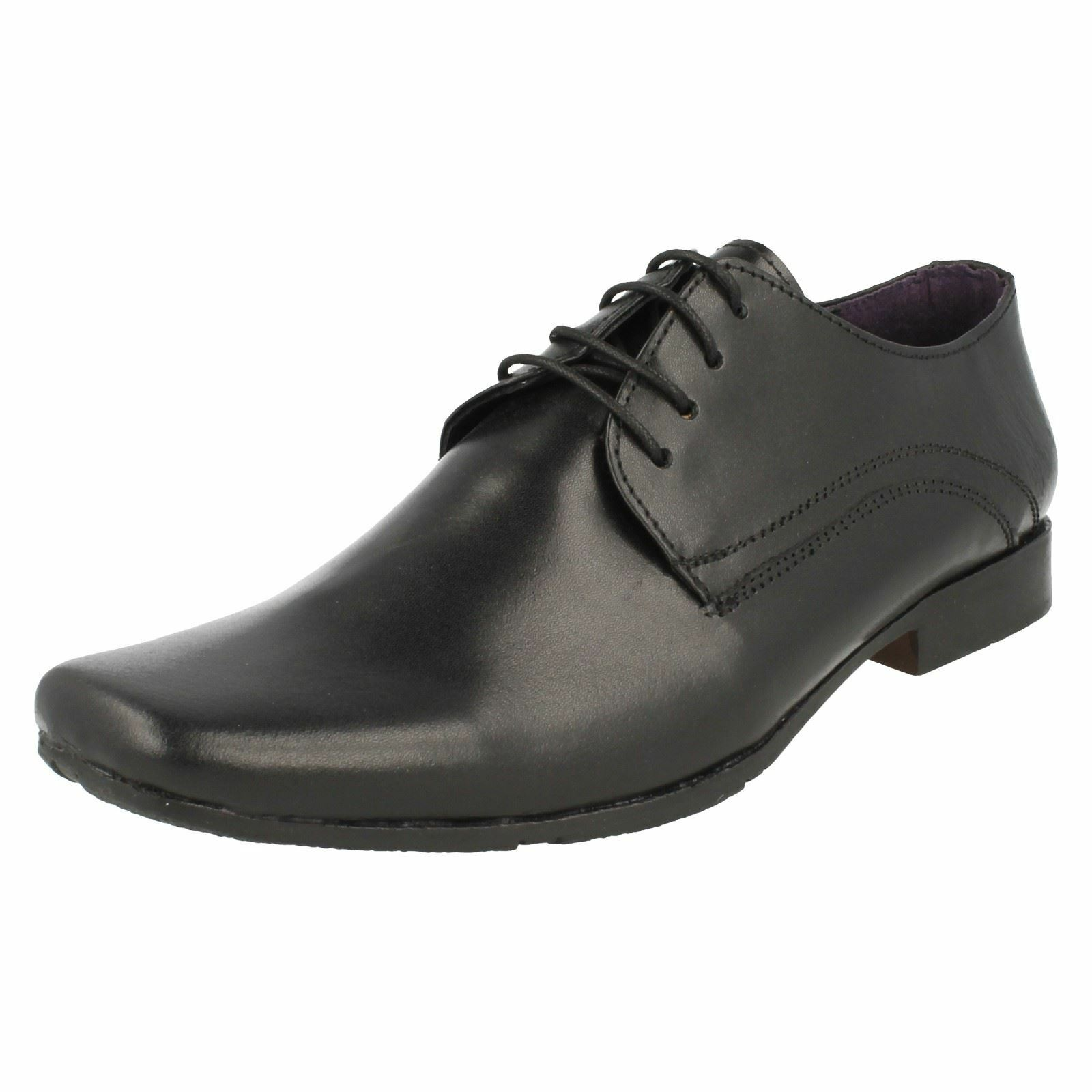 Mens PSL 209682B Smart Formal Lace Up shoes With Squared Toe Front