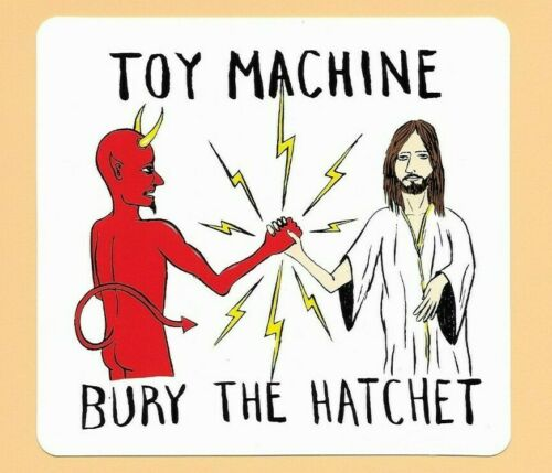 "FREE SHIPPING! Toy Machine Bury The Hatchet Sticker 5/"""