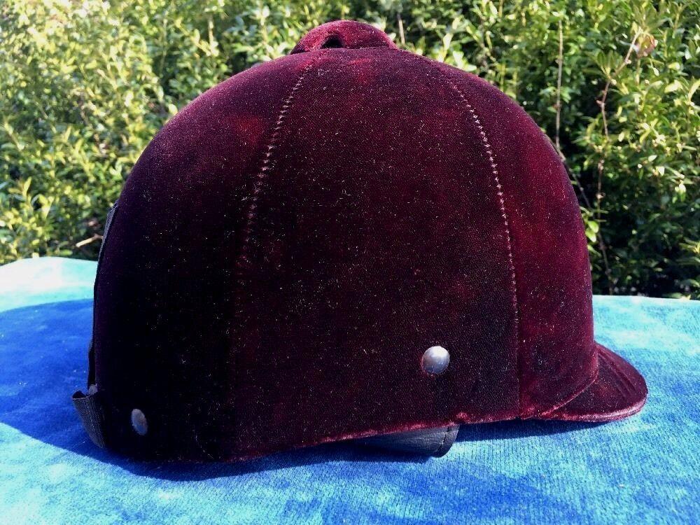 Royal  Crown púrpura Velvet De Colección Ascot Ecuestre Equitación Sombrero Tamaño 6 7 8   inglés  al precio mas bajo