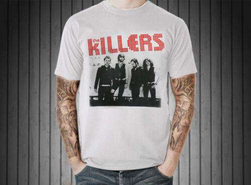 The Killers T-Shirt Vintage Retro Graphic Men Tee Top Indy Punk Rock Music Band