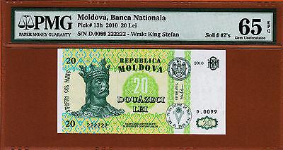 Moldova P-New 2010 20 Lei Gem UNC