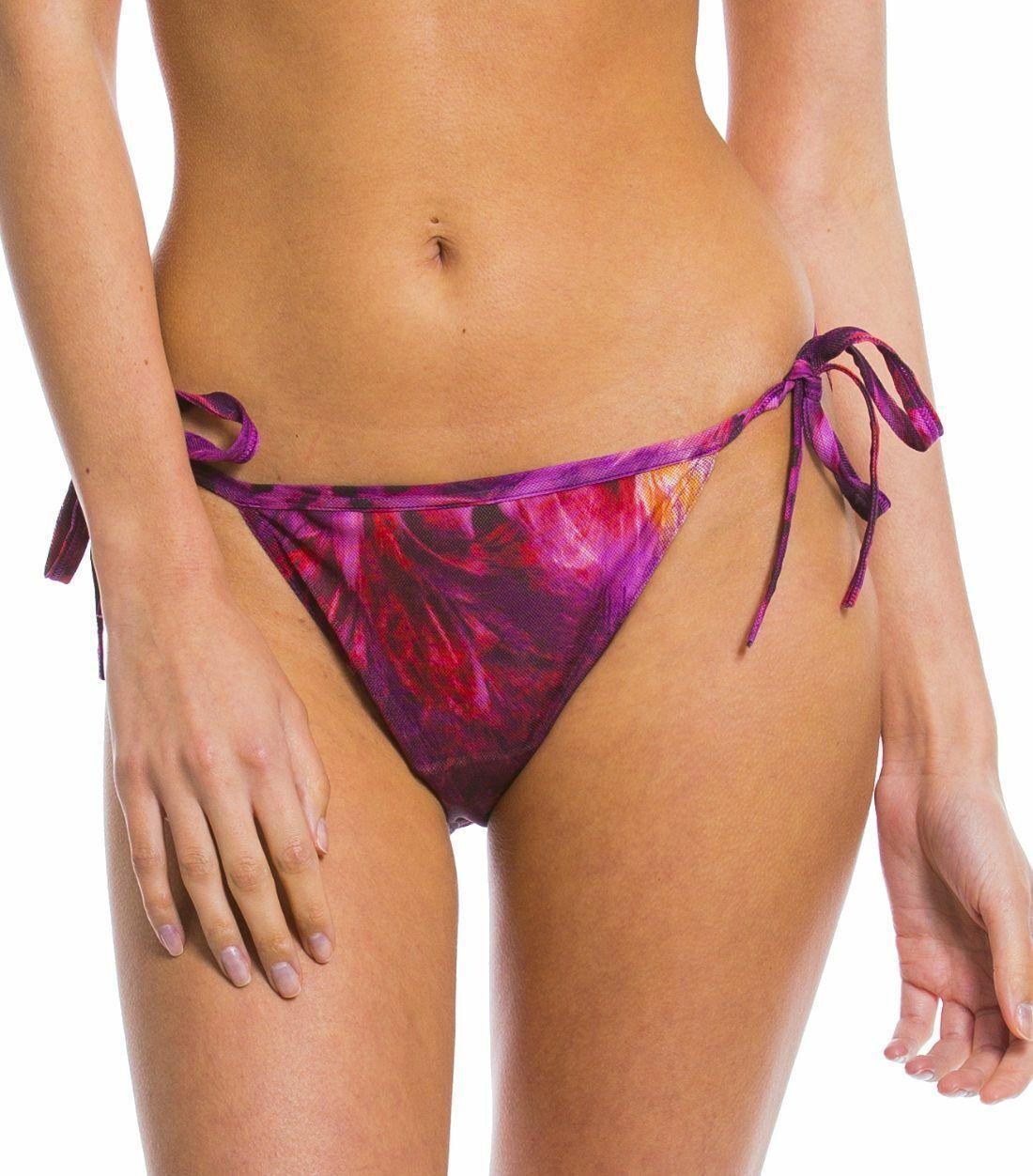 Kiniki Amalfi Purple Tan Thru Sonnendurchlässiger Bikini Tanga Badeanzug Damen