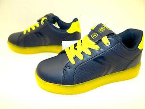 Details zu GEOX Schwarz Jungen Kinder Schuhe Halbschuh Sneakers Led Schnürsenkel Gr. 30