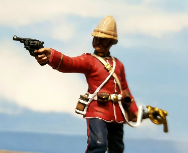 Britains 20190 ' Getting a Little Close' - 24th Foot Officer Firing Revolver.