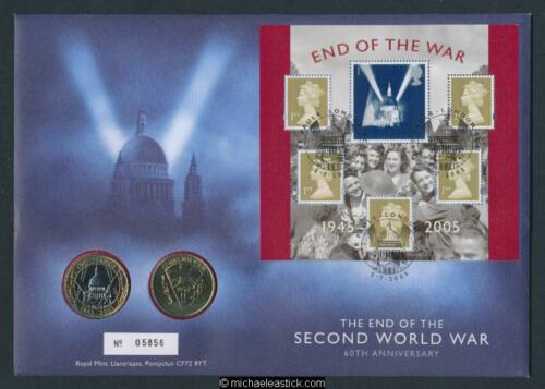 UK 2005 The End Of The Second World War 60th Ann. Royal Mint PNC