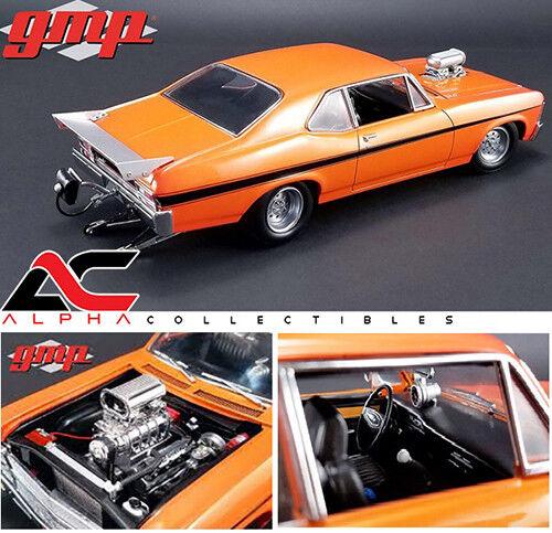Gmp 18873 1,18 1968 chevrolet nova Orange 1320  drag kings  auto 600pc ltd. ed