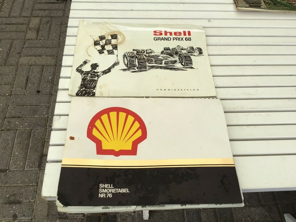 Shell smøretabel fra 70 erne , Shell