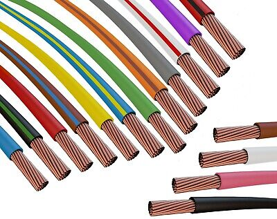 Fahrzeugleitung 0,50 mm² FLRY-B als Ring 5m blau//violett Litze Kabel Strom KFZ