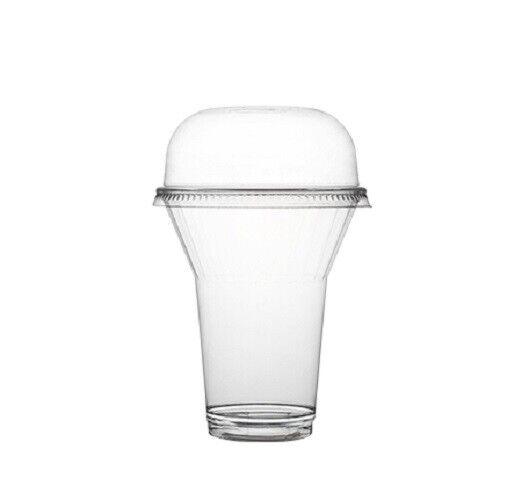 1000 10 oz. PET Crystal Clear Parfait  Dessert Cups And Lids