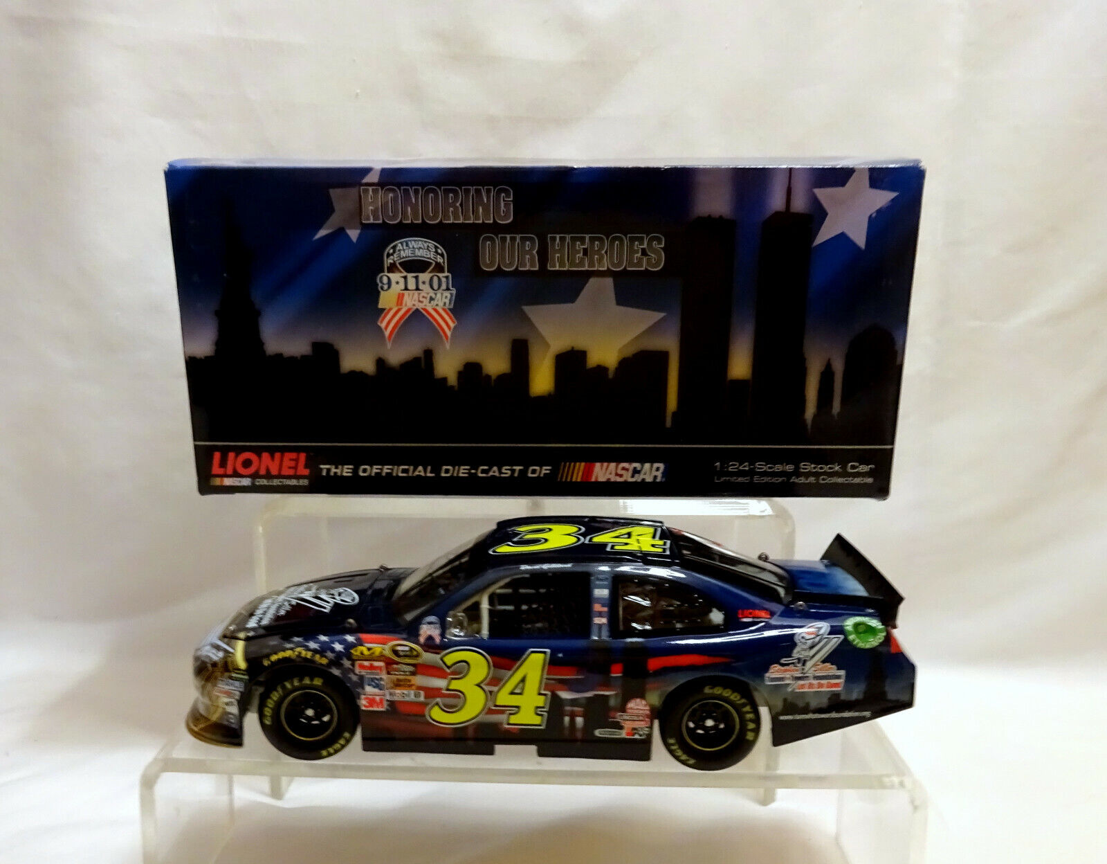 NASCAR Stephen Siller #34 Honoring the Heros 9/11 Die-Cast 1/ 500 signed  (AA16)