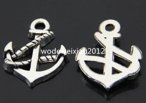 15pc Tibetan Silver anchor Charm Beads Pendant accessories wholesale PL186