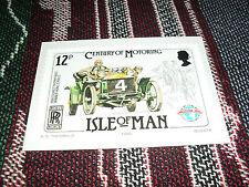 ISLE OF MAN CENTURY OF MOTORING POSTCARD - 1906 TT - 20hp ROLLS ROYCE