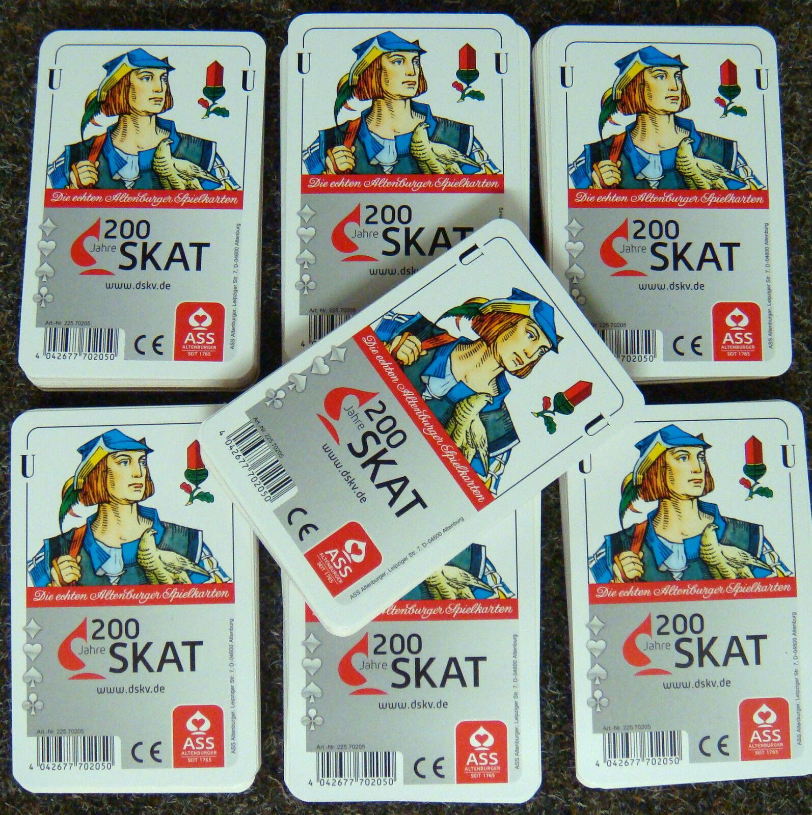 50x SKAT Karten Turnier Deutsches Bild Altenburger Spielkarten Skatspiel Blatt Q