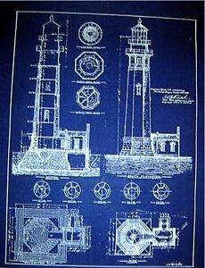 Details about North Head Lighthouse Portland Oregon 1896 Print Blueprint  Plan 18
