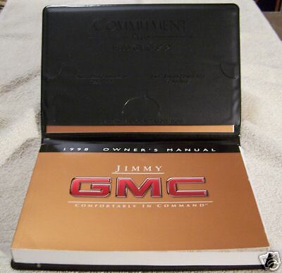 ** NEW** 1998 GMC Jimmy Owners Manual Set With Case 98