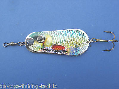 BIG 38g FISH SCALE PIKE SPOON SPINNER BAIT SEA COARSE FISHING SPINNING ROD LURES