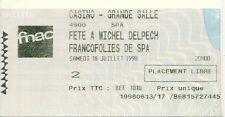RARE / TICKET CONCERT - FETE A MICHEL DELPECH LIVE FRANCOFOLIES LA ROCHELLE 1998