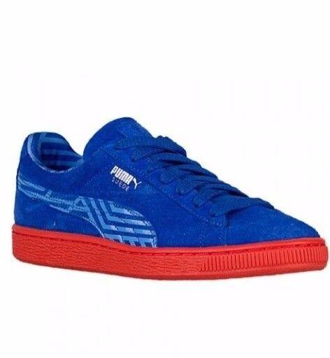 Puma Suede Stripe blu arancia 36024903 36024903 36024903 Leather Classic Casual donna c985ff