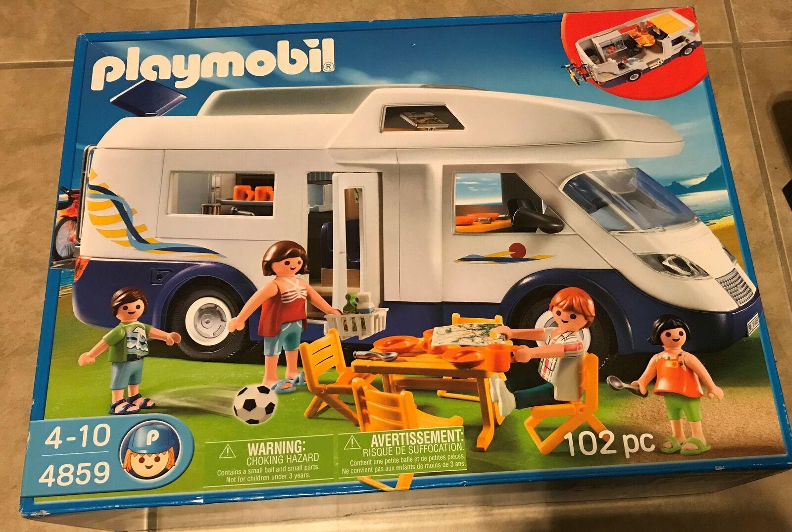 Playmobil Family Motor Home 4859  set nuovo factory sealed in original scatola  presa di marca
