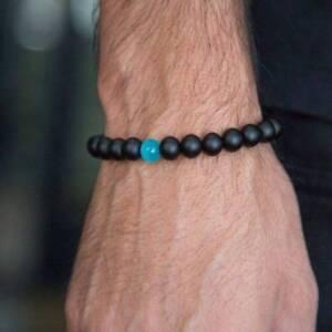 Handmade-Useful-Men-8mm-Natural-Scrub-Agate-Opal-Stone-Bracelet-Bead-Bracelet