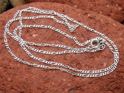 """925 SILVER 1MM FIGARO CHAIN/NECKLACE 20"""" INCHES HANDCRAFTED JEWELLERY"""