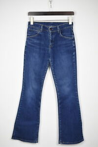 LEVI STRAUSS & CO. 525 Women's W27/L32 Stretchy Blue Bootcut Jeans 35987-GS