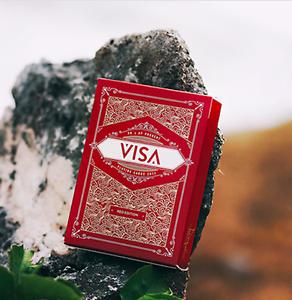 image is loading visa red playing cards deck by patrick kun - Murphy Visa Card