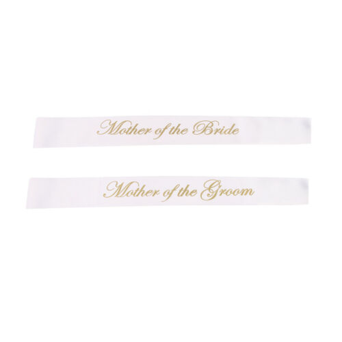 2pcs Mother of the Bride Groom Satin Sash Wedding Party Favor Gift Present