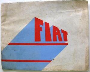FIAT 500, 1500, Balilla 1936 Original Car Sales Brochure