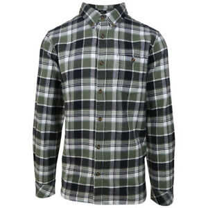 O-039-neill-Men-039-s-Moss-Green-Redmond-Plaid-L-S-Flannel-Shirt-Retail-60