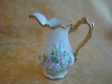Limoges France White W Pink Roses Heavy Gold Decorated Hand Painted