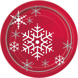 Image is loading Christmas-Xmas-Party-8-Sparkle-Tree-Round-Paper-  sc 1 st  eBay & Christmas Xmas Party 8 Sparkle Tree Round Paper Plates Dessert Plate ...