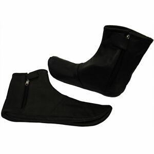 Premium Leather Socks Khuffs Quality Black Mens Womens Islam Size Ramadan gift