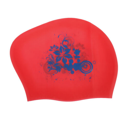 Silicone Swimming Cap Cup for Long Hair Womens kids Sports Flower 9 Colors  TPD