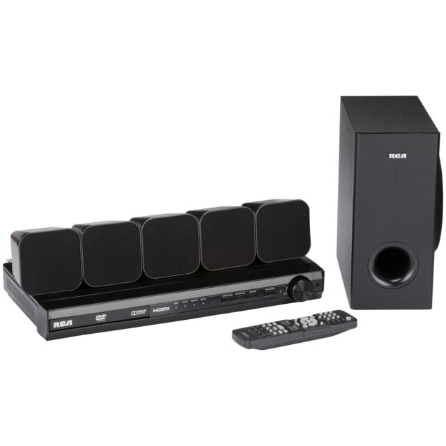 RCA DVD Home Audio Theater System with HDMI 1080p Output 8 pc Box Set Accessory