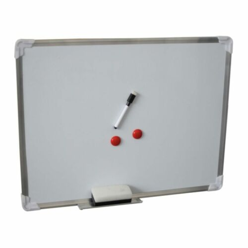 ALU 60x45cm WHITEBOARD MAGNETBOARD MAGNETISCH WANDTAFEL PINNWAND SCHWAMM MARKER
