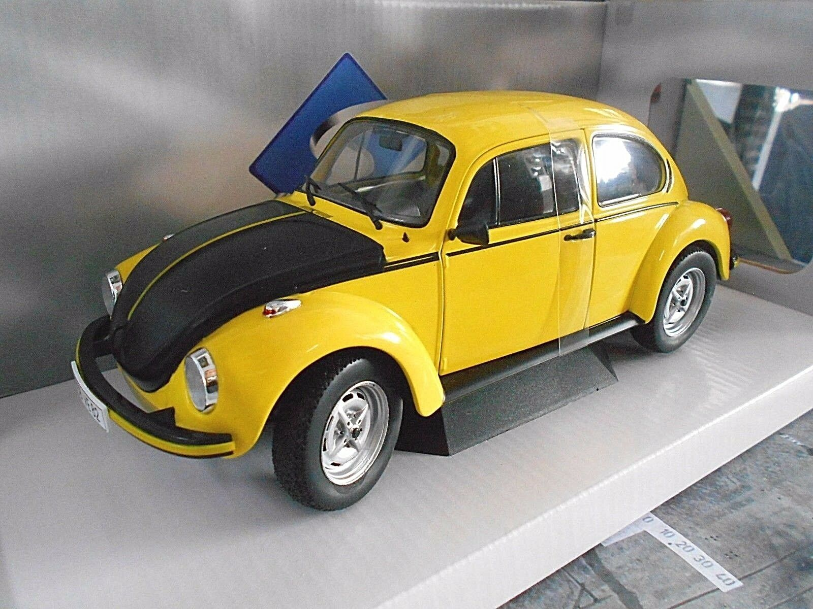 VW Escarabajo Volkswagen Beetle 1303 s GSR giallo nero Renner 1973 solido 1 18
