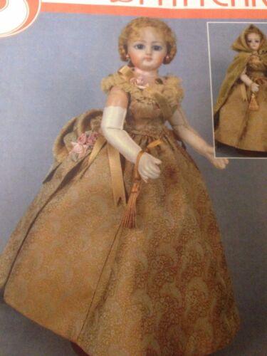 "12/"" French Fashion Doll Wardrobe Pattern Ball Gown,Cape,Corset,Bustle,Petticoat"
