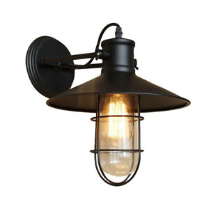 Details About Vintage Industrial Metal Wall Sconce Wall Lamp Indoor And Outdoor Light Fixture