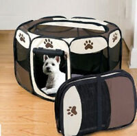 Small Puppy Dog Pet Portable Indoor Outdoor Travel Safety Playpen House Bed
