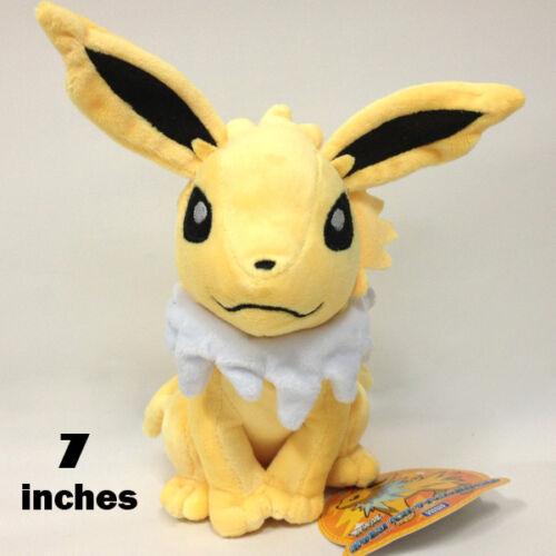 "Pokemon Jolteon #135 Plush Soft Toy Character Stuffed Animal Doll Teddy NWT 7/"""