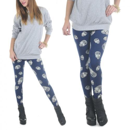 LEGGINGS FANTASIA Donna Fuseaux Leggins Pantalone Sportivo Aderente nuovo moda